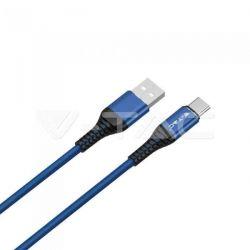 Καλώδιο USB Type C μπλέ 1m Gold Series Κωδικός: 8633