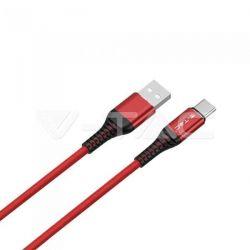 Καλώδιο USB Type C κόκκινο 1m Gold Series Κωδικός: 8634