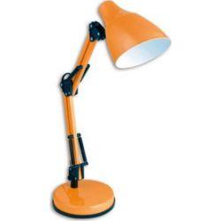 Φωτιστικό γραφείου Ø 150 mm μεταλλικό πορτοκαλί με σπαστό βραχίονα & ντουί Ε27  Κωδικός: 2918OR