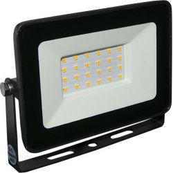 Προβολέας LED SMD ECO 20W 120° 230V Ψυχρό Λευκό 6200K IP65 Μαύρος Αλουμινίου - Adeleq 3-372010