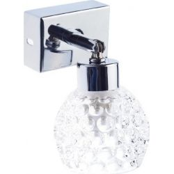 Φωτιστικό Τοίχου - Οροφής Απλίκα G9 Μέταλλο Χρωμίου με Διάφανο Γυαλί AD757141 - Aca