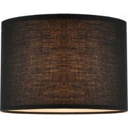 Καπέλο Αμπαζούρ Υφασμάτινο Κυλινδρικό Μαύρο Φ25ΧΗ18cm με Βάση για E27 CRL25B - Aca