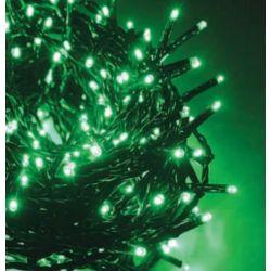 Led Λαμπάκια σε Σειρά 100 Led 3mm Πράσινα σε Πράσινο Καλώδιο X08100511 - Aca