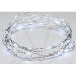 Led Λαμπάκια Μπαταρίας Σειρά 50 Led Mini Ψυχρό Λευκό σε Ασημί Καλώδιο Χαλκού X0150211 - Aca