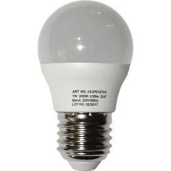 Λάμπα led σφαιρική Ø45mm Ε27 7watt 230v θερμό λευκό 3000Κ 650lumen Adeleq - 13-27012700