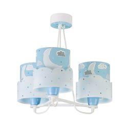 Φωτιστικό Οροφής Παιδικό Τρίφωτο Moon Blue 61237T - Ango