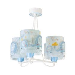 Φωτιστικό Οροφής Παιδικό Τρίφωτο Elephant Blue 61337T - Ango