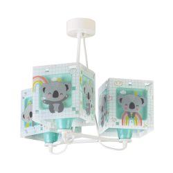 Φωτιστικό Οροφής Παιδικό Τρίφωτο Koala Green 63267H - Ango
