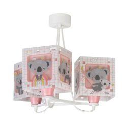 Φωτιστικό Οροφής Παιδικό Τρίφωτο Koala Pink 63267S - Ango