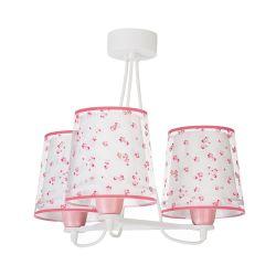 Φωτιστικό Οροφής Παιδικό Τρίφωτο Dream Flowers Pink 81177S - Ango