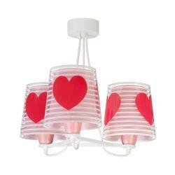 Φωτιστικό Οροφής Παιδικό Τρίφωτο Light Feeling Pink 81197S - Ango