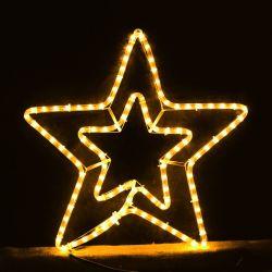 Διπλό Αστέρι 3μ Κίτρινο Φως με πρόγραμμα - Decolight 90-05-XLTDOUBLE3SY
