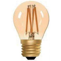 Λάμπα led filament amper γυαλί σφαιρική P45 Ε27 4watt 230V ντιμαριζόμενη θερμό λευκό φως 2400k 440lumen sku:E27-00703