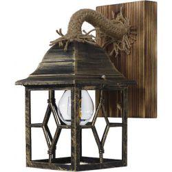 Απλίκα Φωτιστικό Τοίχου με Φυσικό Σχοινί και Ξύλο ROPE-WOOD R-710AP BR - Heronia 30-0057
