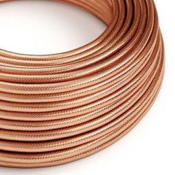 Στρόγγυλο Υφασμάτινο Καλώδιο Ορείχαλκος 3x0.75 Χάλκινο - Creative Cables N301RR11