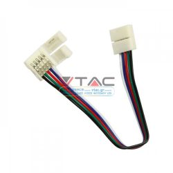 Εύκαμπτος Σύνδεσμος-Connector για Ταινία LED SMD5050 RGB+W - VTAC 2587
