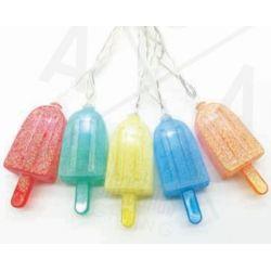 Led Διακοσμητικά Λαμπάκια Μπαταρίας Ξυλάκι Παγωτό 10 Leds 5mm Ψυχρό Λευκό IP20 135+30cm F061021204 - Aca