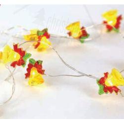 Led Διακοσμητικά Λαμπάκια Μπαταρίας Καμπανούλα Πλαστική 15 Mini Leds Θερμό Λευκό IP20 σε Ασημί Καλώδιο Χαλκού 140+30cm X07151101 - Aca