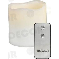 Led Κερί Μπαταρίας Θερμό Λευκό IP20 Φ7.5x10cm με Τηλεχειριστήριο F0711514 - Aca