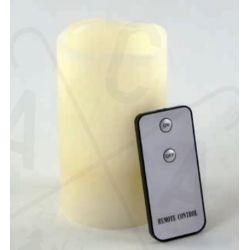 Led Κερί Μπαταρίας Θερμό Λευκό IP20 Φ7.5x12.5cm με Τηλεχειριστήριο F0711515 - Aca