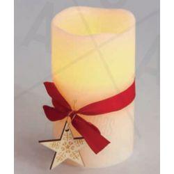 Led Κερί Μπαταρίας με Αστέρι Θερμό Λευκό IP20 Φ7.5x12.5cm X0711117 - Aca