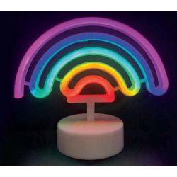 Led Neon Ουράνιο Τόξο Πλαστικό 66 Leds 2835 Πολύχρωμο IP20 με Μπαταρίες & Βύσμα USB 23x10x19.5cm F04003303 - Aca