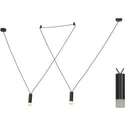 Φωτιστικό Οροφής Teres Κρεμαστό Δίφωτο Αλουμίνιο Μαύρο 2xG9 YL22P2BK - Aca