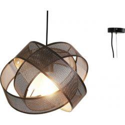 Φωτιστικό Οροφής Vitruvius Κρεμαστό Μονόφωτο Μεταλλικό Μαύρο E27 Φ29.5cm GN47P130BK - Aca