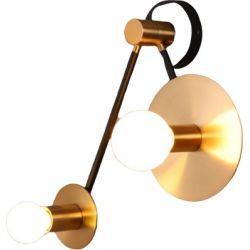 Φωτιστικό Επίτοιχο Απλίκα Clock Δίφωτο Μεταλλικό Ορείχαλκος & Μαύρο 2xE27 OD742W74BR - Aca