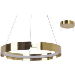 Φωτιστικό Οροφής Κρεμαστό Themida από Αλουμίνιο & Σιλικόνη Σατινέ Ορείχαλκος Led 34W 2720lm 3000K Φ60x150cm ZM18LEDP60AB - Aca