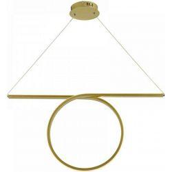 Φωτιστικό Οροφής Κρεμαστό Zero από Αλουμίνιο & Ακρυλικό Απόχρωση Ορείχαλκου Led 43W 2580lm 3000K 88x120cm HM98LEDP88BR - Aca