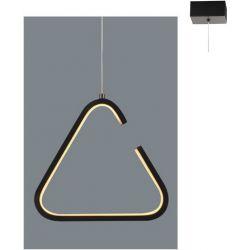 Φωτιστικό Οροφής Κρεμαστό Τρίγωνο Euclid2 Μεταλλικό Μαύρο Ματ Led 7W 725lm 3000K 22.7x20.7x128cm V29LEDP23BK - Aca