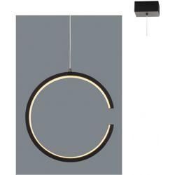 Φωτιστικό Οροφής Κρεμαστό Κύκλος Euclid3 Μεταλλικό Μαύρο Ματ Led 8W 750lm 3000K Φ22x129cm V28LEDP22BK - Aca