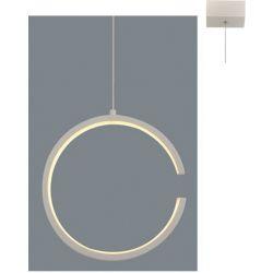 Φωτιστικό Οροφής Κρεμαστό Κύκλος Euclid3 Μεταλλικό Λευκό Ματ Led 8W 750lm 3000K Φ22x129cm V28LEDP22WH - Aca