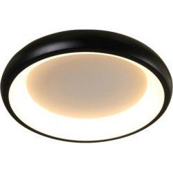 Φωτιστικό Οροφής Πλαφονιέρα Diana από Μέταλλο, Αλουμίνιο & PMMA Μαύρο Ματ Dimmable Led 34W 2330lm 3000K Φ41x8.5cm BR71LEDC41BKD - Aca
