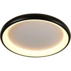Φωτιστικό Οροφής Πλαφονιέρα Diana από Μέταλλο, Αλουμίνιο & PMMA Μαύρο Ματ Dimmable Led 48W 4610lm 3000K Φ61x8.5cm BR71LEDC61BKD - Aca