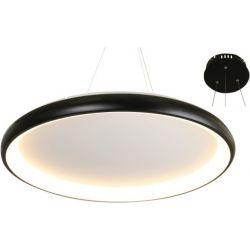 Φωτιστικό Οροφής Κρεμαστό Diana από Μέταλλο, Αλουμίνιο & PMMA Μαύρο Ματ Led 100W 7010lm 3000K Φ81x8.5x120cm BR71LEDP81BK - Aca