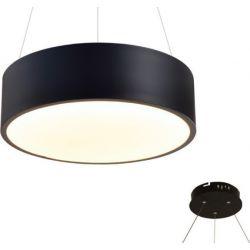 Φωτιστικό Οροφής Κρεμαστό Optimus από Μέταλλο & PMMA Μαύρο Ματ Led 32W 2560lm 3000K Φ35x10x145cm V29LEDP35BK - Aca