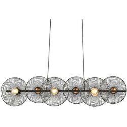 Φωτιστικό Οροφής Κρεμαστό Εξάφωτο Kobe Μεταλλικό Μαύρο 6xE27 103x119cm HL45846P103B - Aca