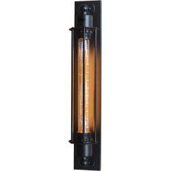 Φωτιστικό Επίτοιχο Απλίκα Maya Μεταλλικό Μαύρο Ματ E27 50x8cm KS2049W1BK - Aca