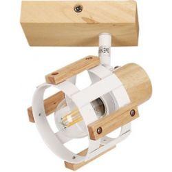 Φωτιστικό Σποτ Οροφής - Τοίχου Talos Ξύλο & Μέταλλο Λευκό E14 13.8x11x12cm GN46S1WW - Aca