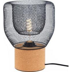 Φωτιστικό Πορτατίφ Επιτραπέζιο Maracu Φελλός & Μέταλλο Μαύρο E27 Φ21.6x13x27cm GN51T121CB - Aca
