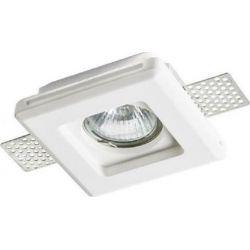 Σποτ Οροφής Χωνευτό Erin Γύψινο Trimless Λευκό GU10 10x10cm G90041C - Aca