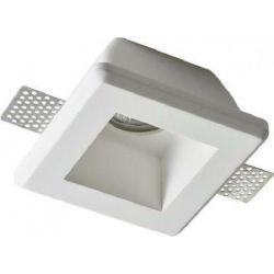 Σποτ Οροφής Χωνευτό Zoe Γύψινο Trimless Λευκό GU10 12x12x6.2cm G90011C - Aca
