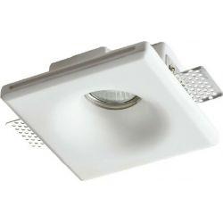 Σποτ Οροφής Χωνευτό Rory Γύψινο Trimless Λευκό GU10 13x13x4.8cm G90031C - Aca
