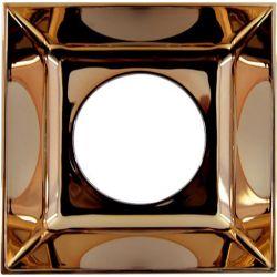 Ανταυγαστήρας Τετράγωνος Ροζ Χρυσό για το Σποτ Οροφής Molly R90461CRG - Aca