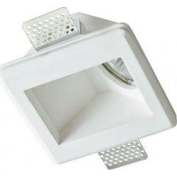 Σποτ Οροφής - Τοίχου Χωνευτό Τετράγωνο Oden Γύψινο Trimless Λευκό GU10 12x12x6.5cm G90061C - Aca