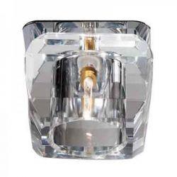 Φωτιστικό Σποτ Οροφής Χωνευτό Moria Κρύσταλλο Διάφανο & Μέταλλο Νίκελ/Χρώμιο G9 Φ7x6.4cm SD8048T5G9 - Aca