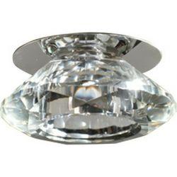 Φωτιστικό Σποτ Οροφής Χωνευτό Moria Κρύσταλλο Διάφανο & Μέταλλο Νίκελ/Χρώμιο G4 Φ9.2x5.5cm SD8016T4G4 - Aca