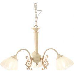 Φωτιστικό Οροφής Κρεμαστό Τρίφωτο Perone Μέταλλο Λευκο Χρυσό & Γυαλί Λευκό Αμμοβολή 3xE14 Φ61x39cm DL8163  - Aca